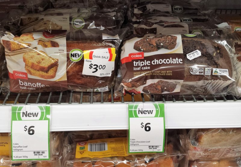 Coles 500g Banoffee Loaf, Triple Chocolate Loaf