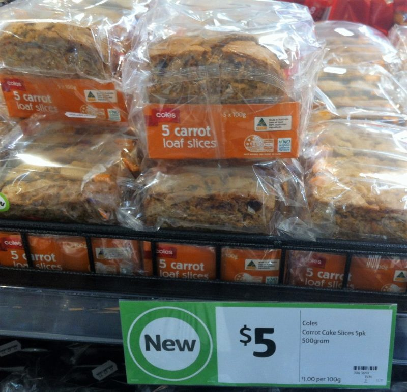 Coles 500g Carrot Cake Slices