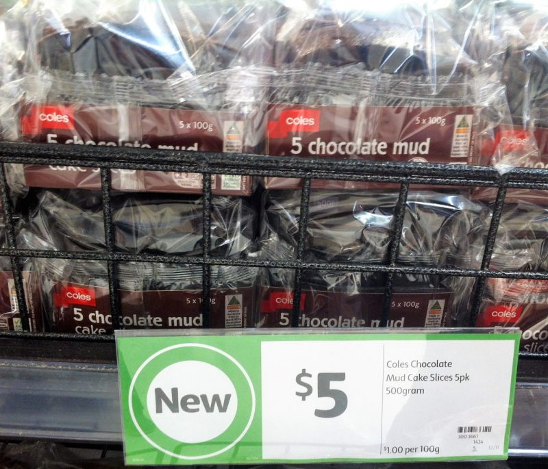 Coles 500g Chocolate Mud Cake Slices