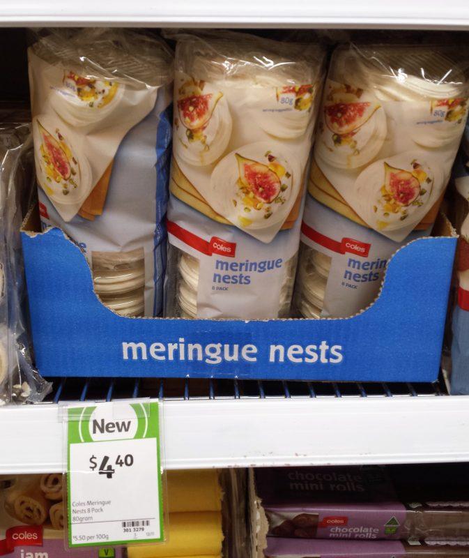 Coles 80g Meringue Nests