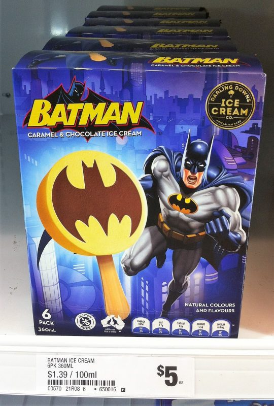 Darling Downs Ice Cream Co 360mL Batman Caramel & Chocolate Ice Cream