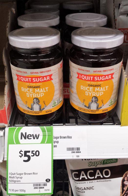 I Quit Sugar 500g Organic Rice Malt Syrup