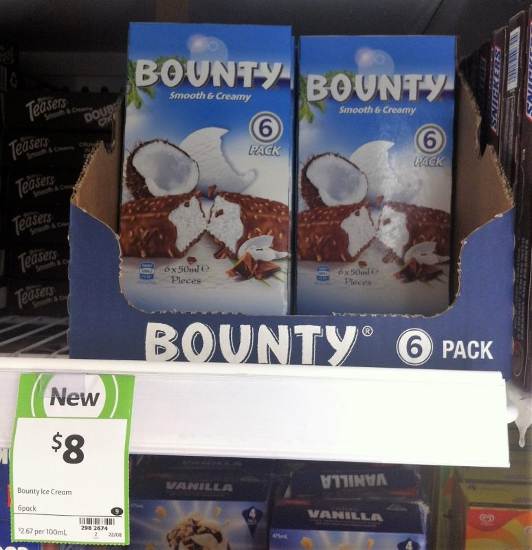 Mars 300mL Bounty Ice Cream Bars