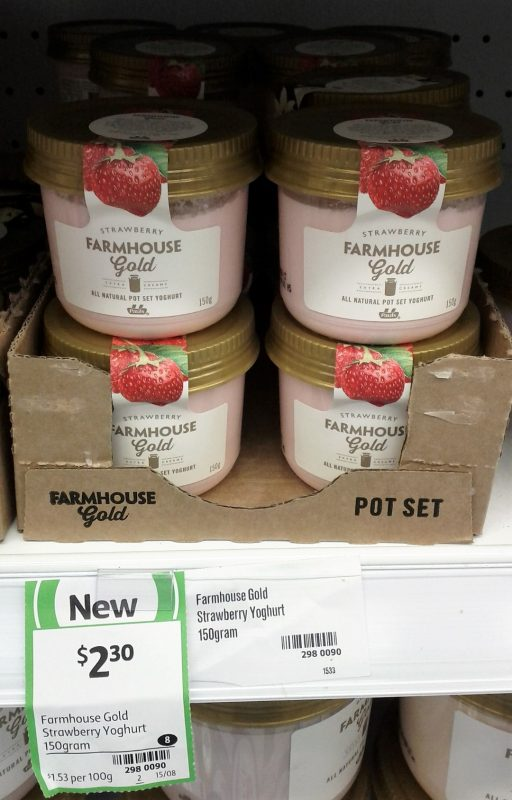 Pauls 150g Farmhouse Gold Strawberry Yoghurt