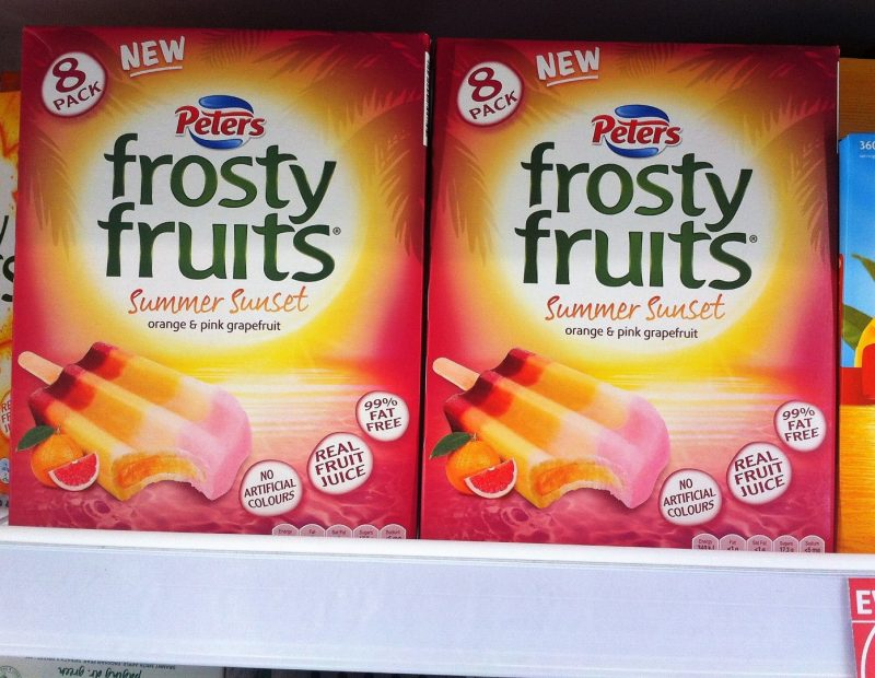Peters 600mL Frosty Fruits Summer Sunset Orange & Pink Grapefruit