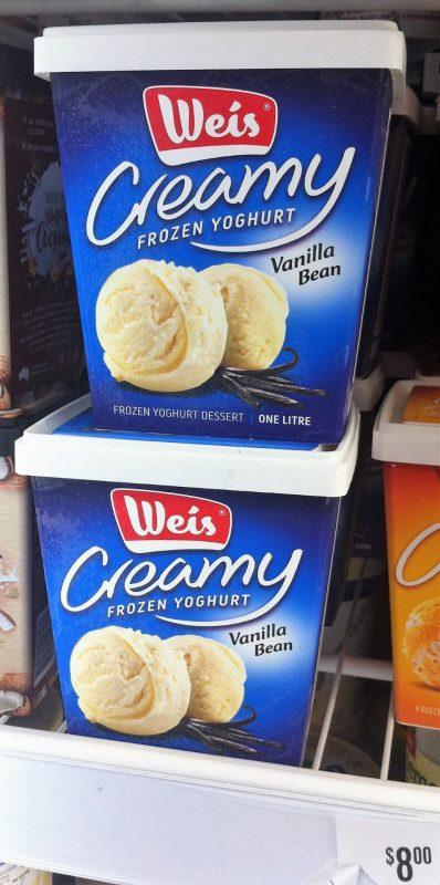 Weis 1L Creamy Frozen Yoghurt Vanilla Bean