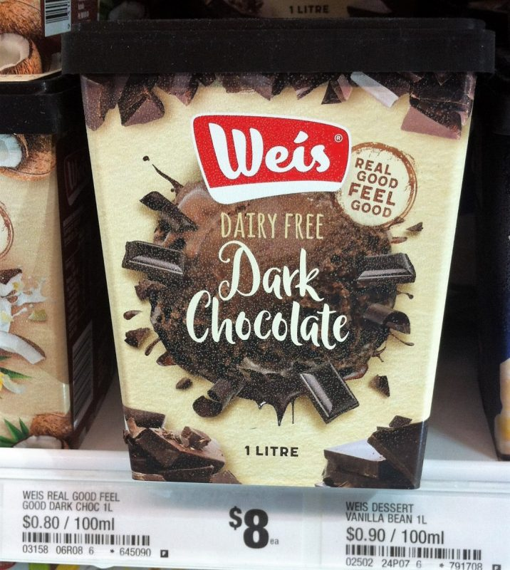Weis 1L Dairy Free Dark Chocolate