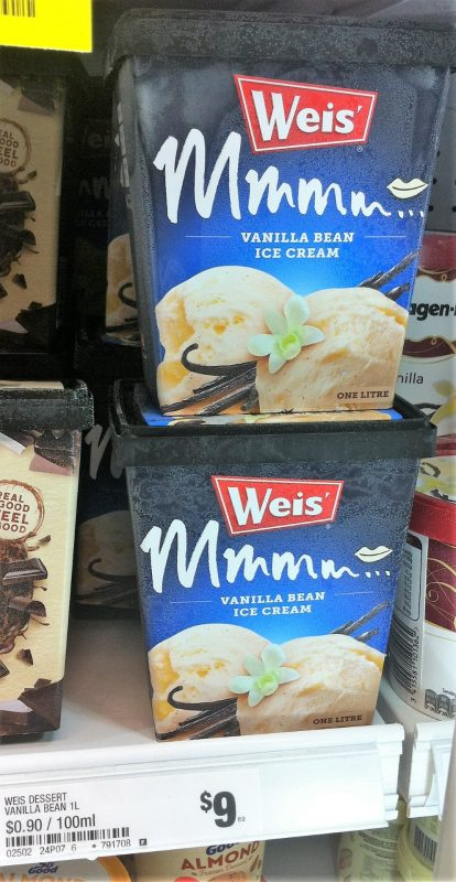 Weis 1L Vanilla Bean Ice Cream