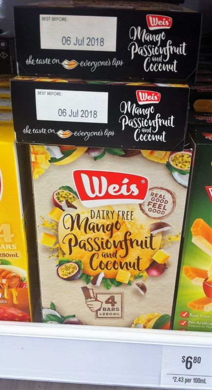 Weis 280mL Dairy Free Mango Passionfruit And Coconut