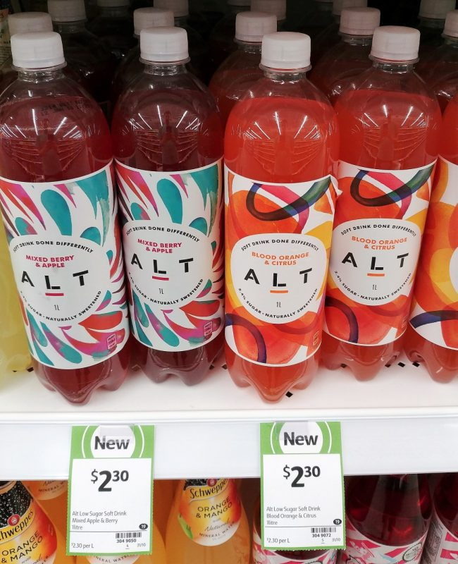 ALT 1L Soft Drink Mixed Berry & Apple, Blood Orange & Citrus