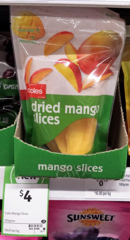 Coles 150g Dried Mango Slices