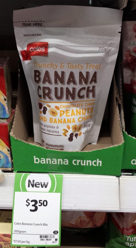 Coles 200g Banana Crunch Mix
