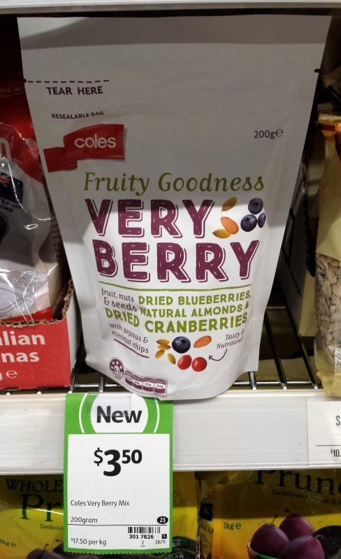 Coles 200g Very Berry Mix
