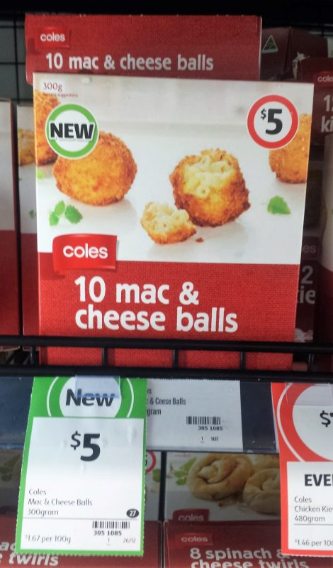 Coles 300g Mac & Cheese Balls