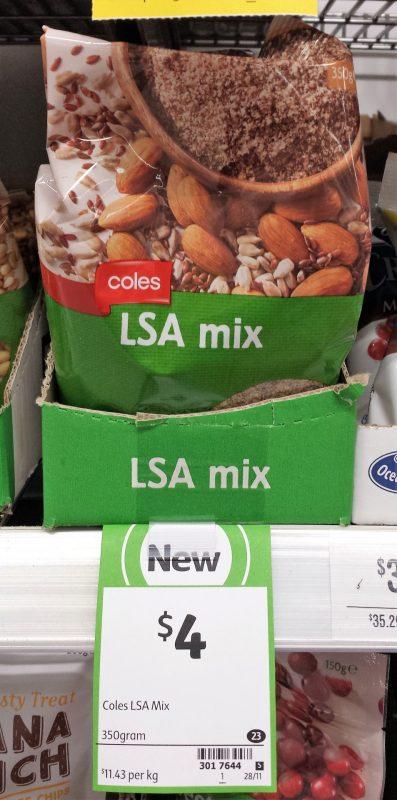 Coles 350g LSA Mix