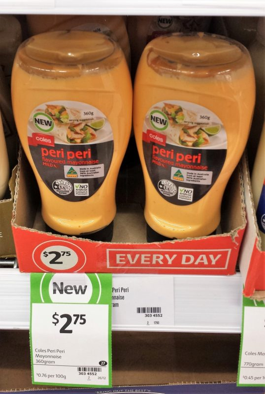 Coles 360g Mayonnaise Peri Peri Flavoured