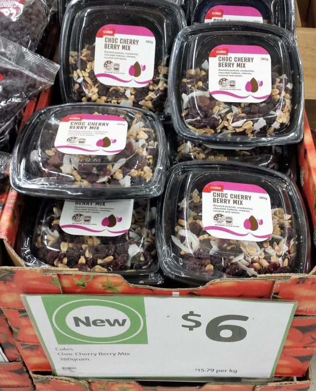Coles 380g Choc Cherry Berry Mix