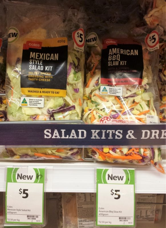 Coles 400g Mexican Style Salad Kit, American BBQ Slaw Kit