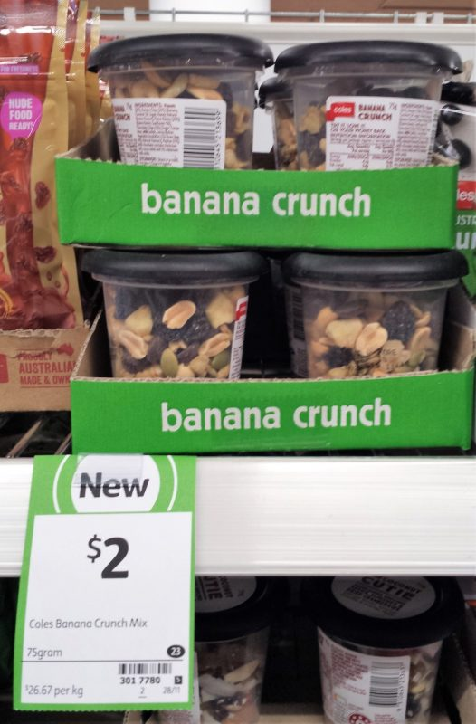 Coles 75g Banana Crunch Mix