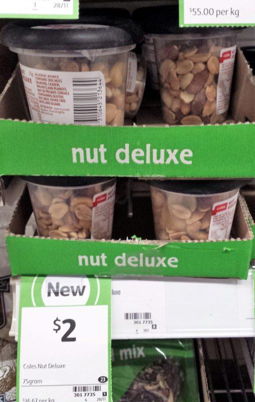 Coles 75g Nut Deluxe
