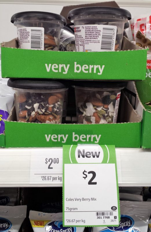 Coles 75g Verry Berry Mix