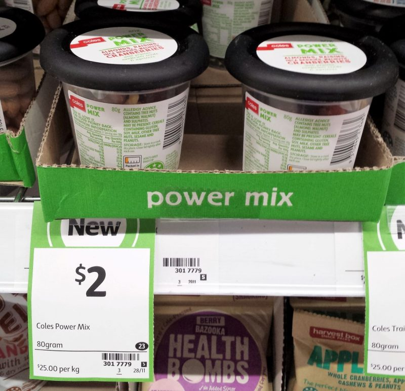 Coles 80g Power Mix