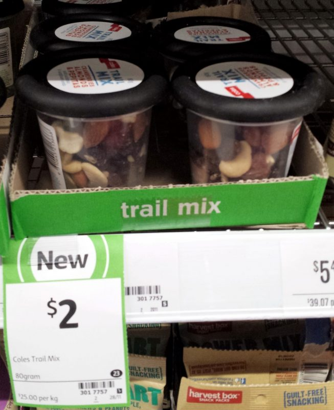 Coles 80g Trail Mix