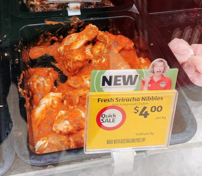 Coles Chicken Fresh Sriracha Nibbles