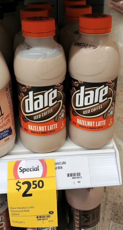 Dare 500mL Iced Coffee Hazelnut Latte Flavoured Milk