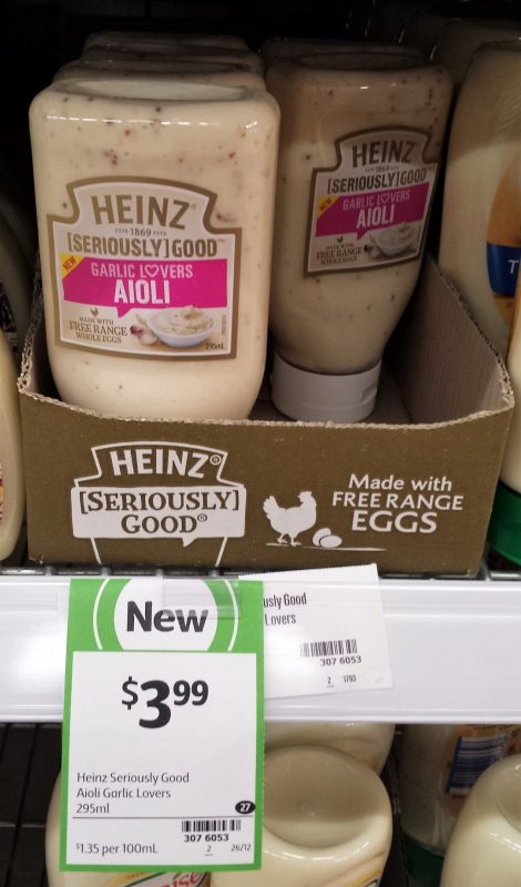 Heinz 295g Aioli Garlic Lovers