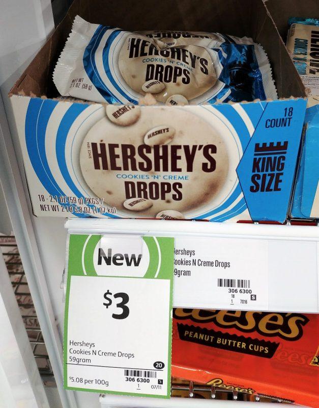 Hershey's 59g Drops Cookies N Creme