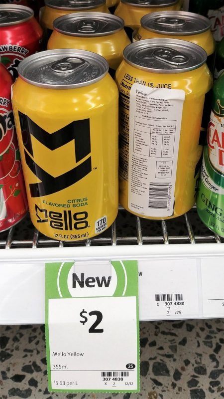 Mello Yello 355mL Citrus Flavoured Soda