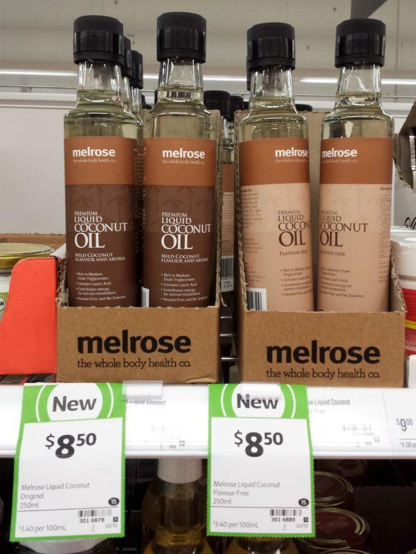 Melrose 250mL Liquid Coconut Original, Flavour Free