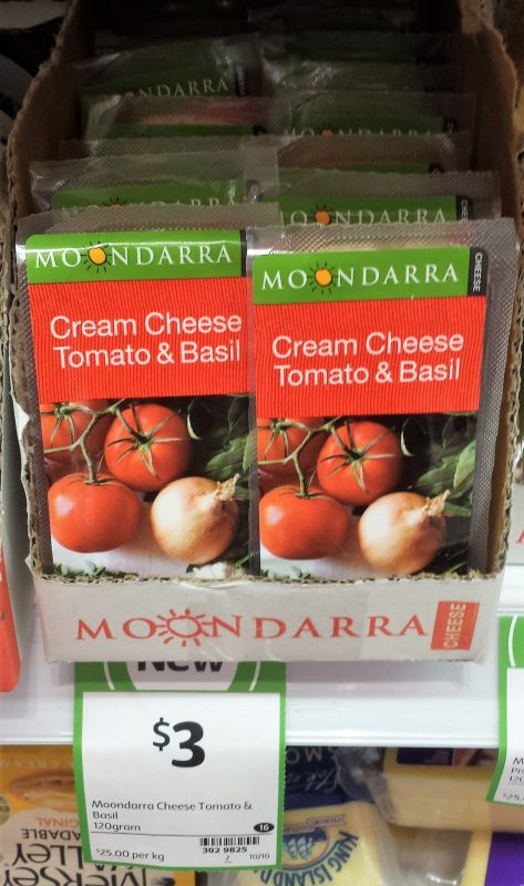 Moondarra 120g Cream Cheese Tomato & Basil