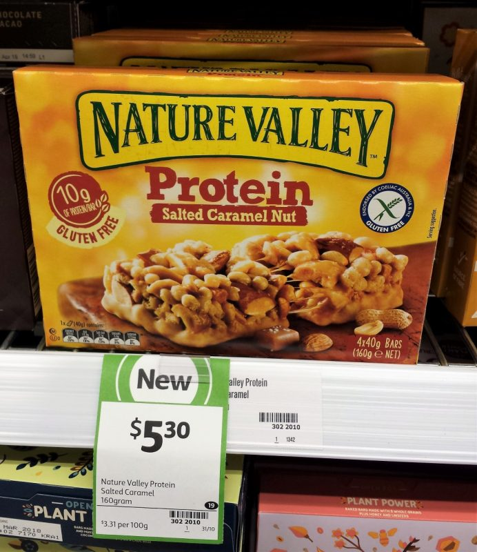 Nature Valley 160g Protein Salted Caramel Nut
