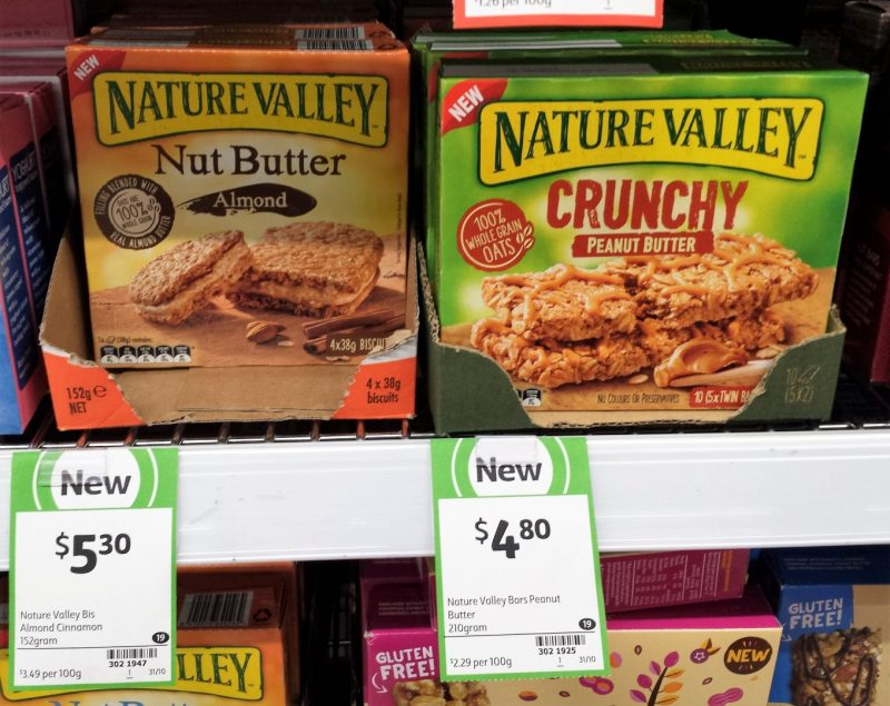 Nature Vally 152g Biscuits Nut Butter Almond, Bars Crunchy Peanut Butter