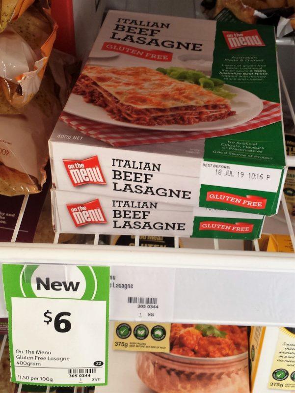 On The Menu 400g Italian Beef Lasagne
