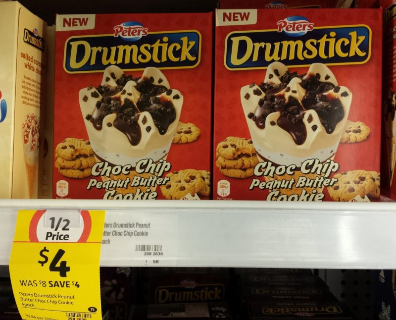 Peters Drumstick 475mL Choc Chip Peanut Butter Cookie