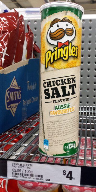 Pringles 134g Aussie Favourites Chicken Salt Flavour