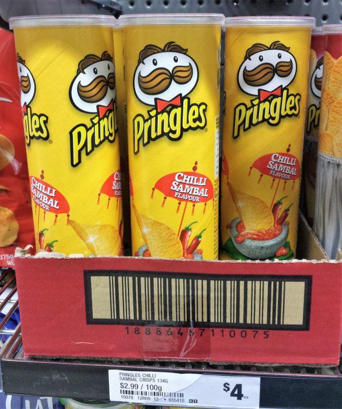 Pringles 134g Chilli Sambal Flavour