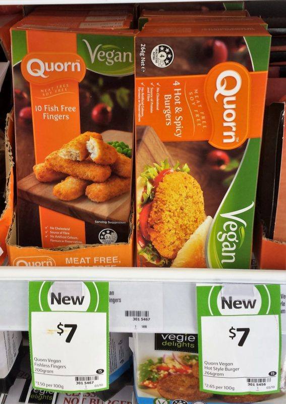 Quorn 200g Vegan Fish Free Fingers, 264g Hot & Spicy Burgers