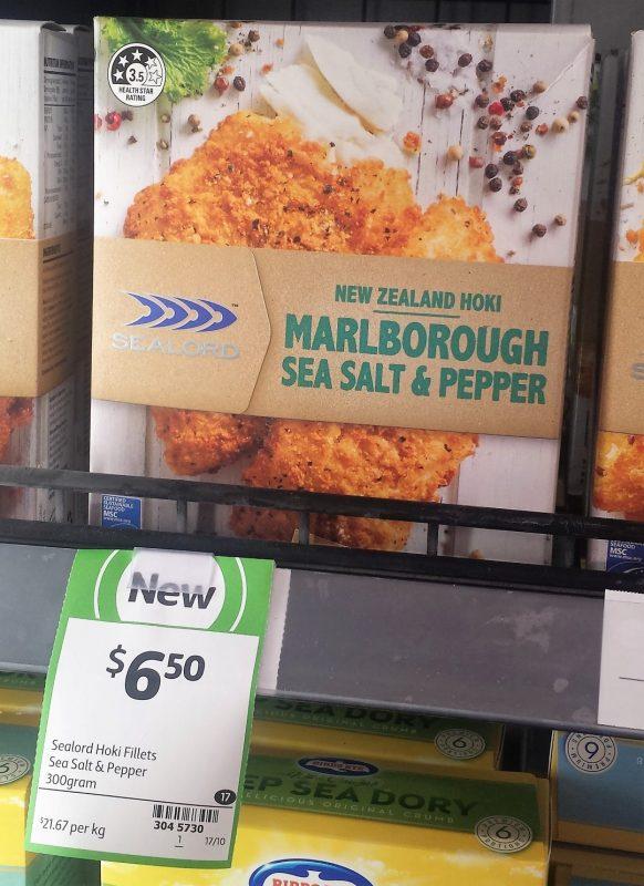 SeaLord 300g Hoki Marlborough Sea Salt & Pepper