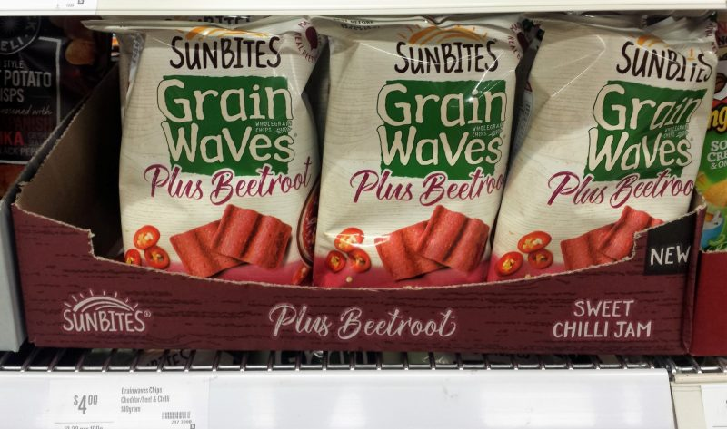 Sunbites 180g Grain Waves Plus Beetroot