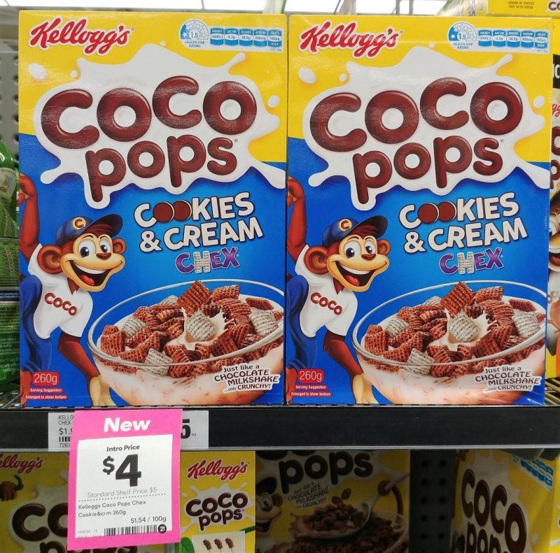 Kellogg's 260g Coco Pops Cookies & Cream Chex
