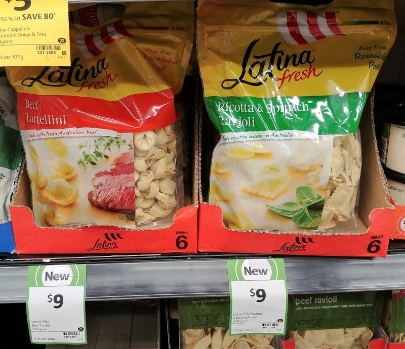 Latina Fresh 900g Tortellini Beef, Ravioli Ricotta & Spinach