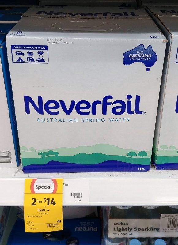 Neverfail 10L Australia Spring Water