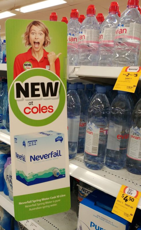 Neverfail 10L Australian Spring Water New Girl Jenny