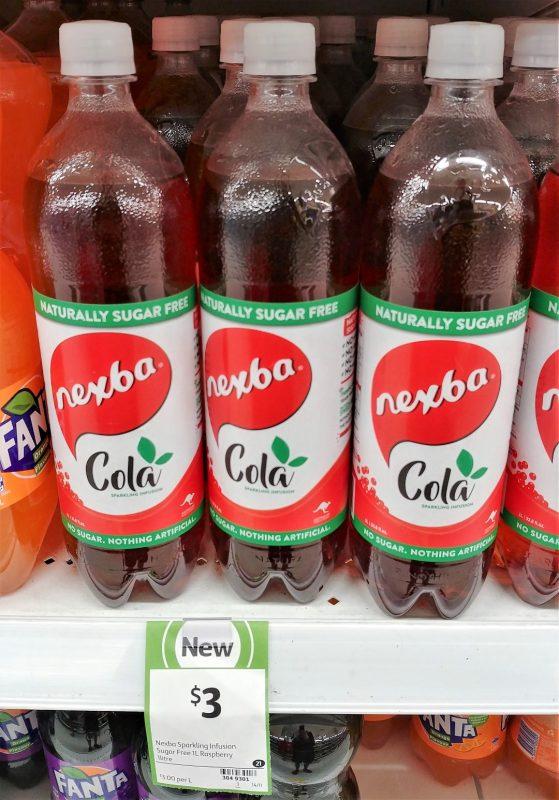 Nexba 1L Sparkling Infusion Sugar Free Cola