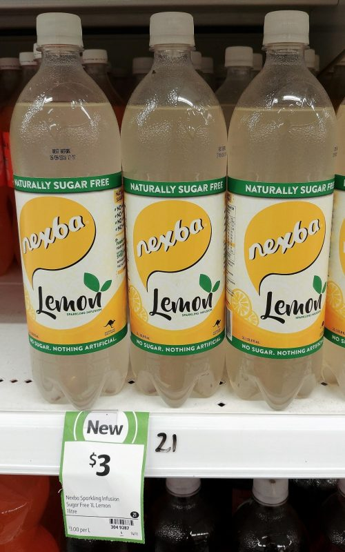 Nexba 1L Sparkling Infusion Sugar Free Lemon
