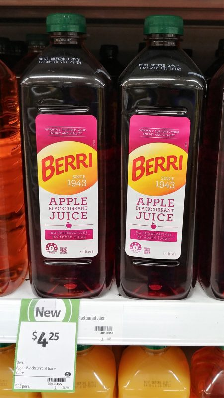 Berri 2L Apple Blackcurrant Juice